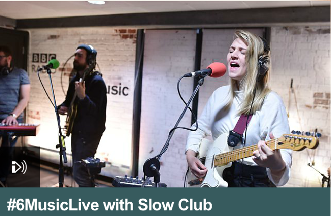 Slow Club 6 Music Live Shaun Keaveny
